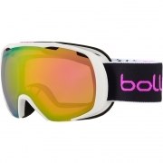 Bolle Royal Kids Ski Goggles in Matte White & Pink Spray With Rose Gold