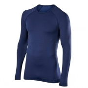 Falke Mens Maximum Warm LS Shirt Comfort Fit in Dark Night