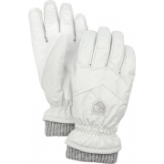 Hestra Womens Rib Knit Ski Glove in Ivory
