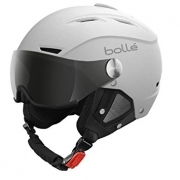 Bolle Backline Visor Premium Ski Helmet in Soft White and Black