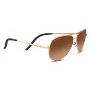 Serengeti Carrara S Soft Satin Gold With Polarized Drivers Gold
