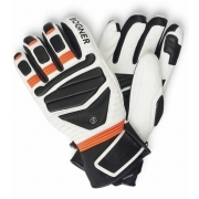 Bogner Siro Mens Ski Glove in Neon Orange