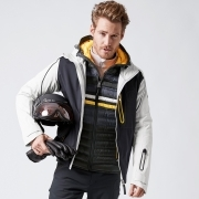 Bogner Paolo T Mens Ski Jacket in Black With Down Liner Jacket