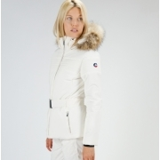 Fusalp Naja Fur II Womens Jacket in White