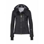 Bogner Geeny Womens Ski Jacket In Black With Gold Down Midlayer