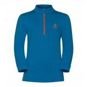 Odlo Snowbird Kids Midlayer in Mykonos Blue