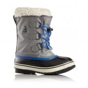 Sorel Yoot Pac Nylon Kids Snow Boot In City Grey