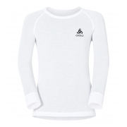Odlo Warm Kid LS Crewneck Ski Thermal Top in White