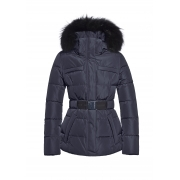 Goldbergh Jules Faux Fur Womens Ski Jacket in Dark Navy