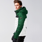 Bogner Nate D Mens Ski Jacket in Green and White