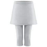 Poivre Blanc Womens Tennis Capri Skirt in Dolpin Grey