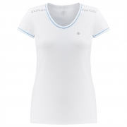 Poivre Blanc Tennis T-Shirt in White and Riviera Blue