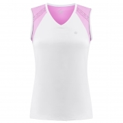Poivre Blanc Tennis Tank Top in White and Sakura Pink