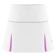 Poivre Blanc Girls Tennis Skort in White and Sakura Pink