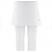 Poivre Blanc Girls Tennis Capri Skirt in White