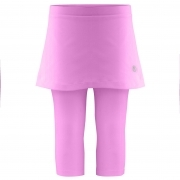 Poivre Blanc Girls Tennis Capri Skirt in Sakura Pink