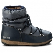 ​Moon Boot Low Nylon Winter Boot in Denim Blue
