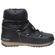 Moon Boot Low Nylon Winter Boot in Black Bronze
