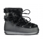 Moon Boot Monaco Low Fur Winter Boot in Black