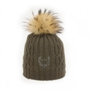 M Miller Cashmere Pom Womens Ski Hat in Brown