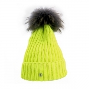 Bogner Leonie Womens Designer Ski Hat in Fluro Yellow