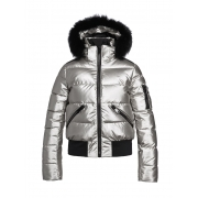 Goldbergh Diva Fur Womens Ski Jacket in Silver