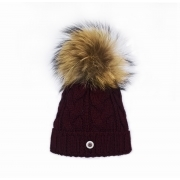 Bogner Drew Womens Designer Ski Hat in Burgundy