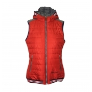 Almgwand Gasselhohe Womens Vest in Red Grey