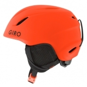 Giro Launch Jr Combo Kids Ski Helmet and Goggles in Matte Vermillon Roc
