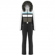Poivre Blanc Anneka One Piece Ski Suit In Multi White