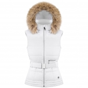 Poivre Blanc Annie Womens Insulated Vest in White