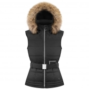 Poivre Blanc Annie Womens Insulated Vest in Black