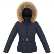 Poivre Blanc Amanda Girls Ski Jacket in Gothic Blue