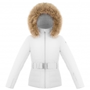Poivre Blanc Amanda Girls Ski Jacket in White