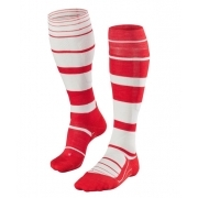 Falke SK4 Stripe Mens Ski Socks in Scarlet