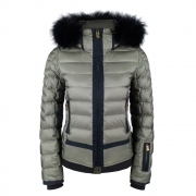 Bogner Muriel D Womens Ski Jacket in Khaki
