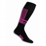 Thorlos S1TOU Ultra Thin Ski Sock In Schuss Pink