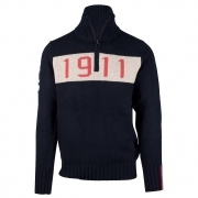 Amundsen 1911 Half Zip Mens Knitted Midlayer in Faded Navy