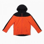 Aztech Mountain Capitol Peak Mens Ski Jacket in Orange Crush Multi