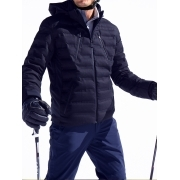 Aztech Nuke Suit Mens Ski Jacket in Wool Navy Multi