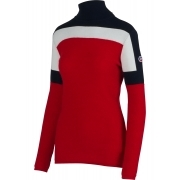Fusalp Powdery Womens Midlayer in Tango Red and Cream