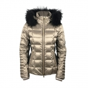 Bogner Uma D Womens Ski Jacket in Biege and Black