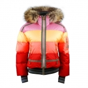 Bogner Velia D Womens Ski Jacket in Multi Stripe