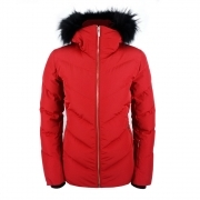Fusalp Davai Down Fur Womens Ski Jacket in Red