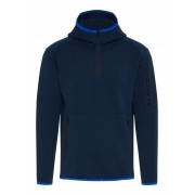 J Lindeberg Logo Hood Tech Sweat Mens Midlayer in JL Navy