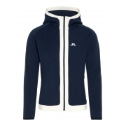 J Lindeberg Moffit Hood Tech Sweat Mens Midlayer in JL Navy