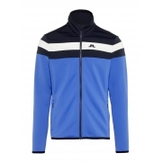 J Lindeberg Moffit Mid Jacket Tech Jersey M Midlayer in Daz Blue