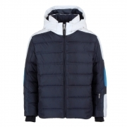Bogner Jerome D Boys Ski Jacket in Blue and White