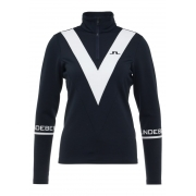 J.Lindeberg Wrangell Qtr Zip Womens Midlayer in  JL Navy