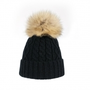 Steffner Mia Womens Ski Hat in Black